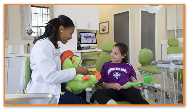 Doctor with Child at Montclair Pediatric Dental Near Glen Ridge