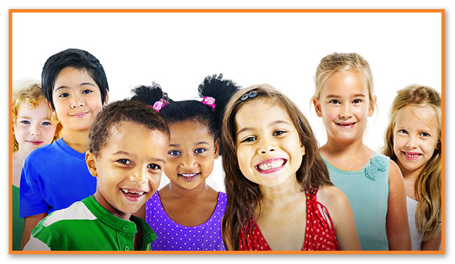 Multi-Ethnic Kids at Montclair Pediatric Dental Care Near Glen Ridge