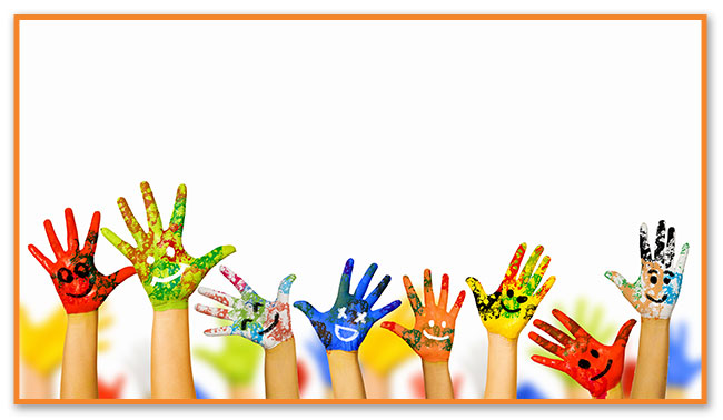 Painted Hands - Montclair Pediatric Dental Near West Orange