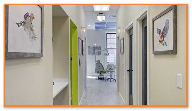Office Hallway - Montclair Pediatric Dental
