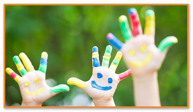 Painted Hands at Montclair Pediatric Dental Care