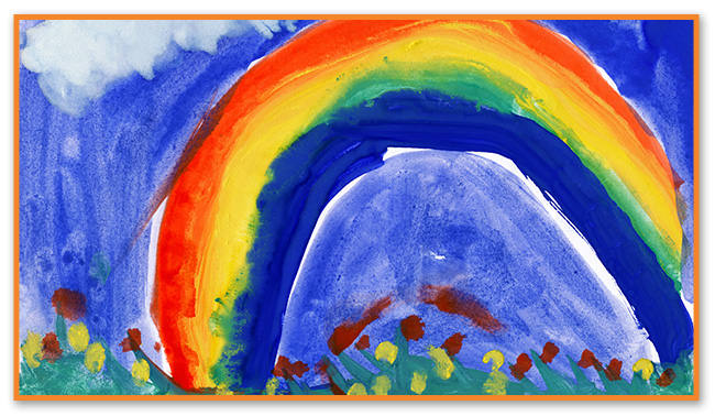 Rainbow Painting at Montclair Pediatric Dental Care Near Glen Ridge